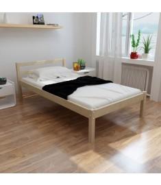 Κρεβάτι σε Φυσικό Χρώμα 90 x 200 εκ. από Μασίφ Ξύλο Πεύκου   241657