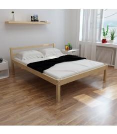 Κρεβάτι σε Φυσικό Χρώμα 140 x 200 εκ. από Μασίφ Ξύλο Πεύκου   241658