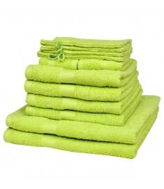 Σετ Πετσέτες 12 τεμ. Πράσινο Λαχανί 500 γρ./μ² από Βαμβάκι    130620
