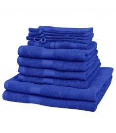Σετ Πετσέτες 12 τεμ. Μπλε Ρουά 500 γρ./μ² από Βαμβάκι   130621
