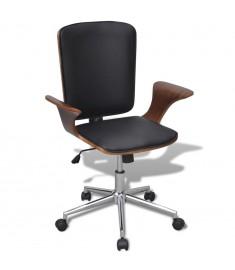 Καρέκλα Γραφείου Περιστρεφόμενη από Λυγισμένο Ξύλο και Συνθετικό Δέρμα  241685