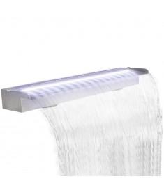 Καταρράκτης Πισίνας Ορθογώνιος με LED από Ανοξείδωτο Ατσάλι 150 εκ.  41676