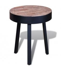 Βοηθητικό Τραπέζι Στρογγυλό από Ανακυκλωμένο Ξύλο Teak    241713