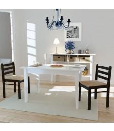 Καρέκλες Τραπεζαρίας Τετράγωνες 2 τεμ. Καφέ Ξύλινες    242028