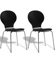 Καρέκλες Τραπεζαρίας Butterfly Στοιβαζόμενες 2 τεμ. Μαύρες   241966