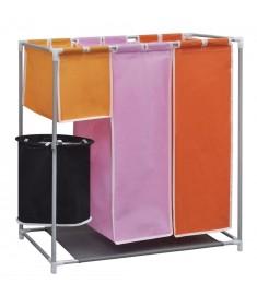Καλάθι Διαχωρισμού Απλύτων 3 Τμημάτων με Κάδο   242058