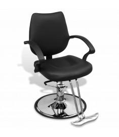 Επαγγελματική Καρέκλα Κουρείου από Δερματίνη Μαύρη   110121