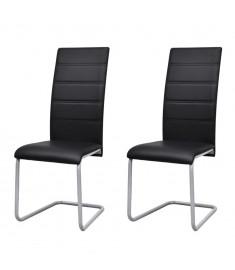 """Καρέκλες Τραπεζαρίας """"Πρόβολος"""" 2 τεμ. Μαύρες   242289"""
