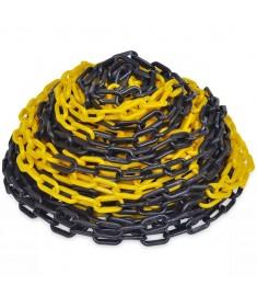 Αλυσίδα Σήμανσης Κίτρινη και Μαύρη 30 μ. Πλαστική  141817