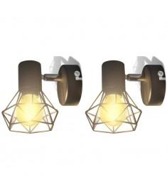 Απλίκα Τοίχου 2 τεμ. Βιομηχανικό Στιλ Μαύρο με Λαμπτήρα LED Filament  242265