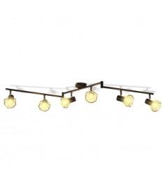 Φωτιστικό Σποτ Ράγα Βιομηχανικό Στιλ Μαύρο με 6 Λαμπτήρες LED Filament   242268