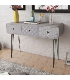 Κονσόλα Τραπέζι / Συρταριέρα με 3 Συρτάρια Γκρι    242235