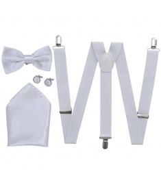 Ανδρικά Αξεσουάρ Κοστουμιού Black Tie-Σμόκιν Τιράντες/Παπιγιόν Λευκό  130852