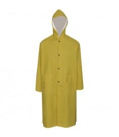 Καπαρντίνα Αδιάβροχη Μεγάλης Αντοχής Μακριά Κίτρινη XXL με Κουκούλα  130771
