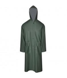 Καπαρντίνα Αδιάβροχη Μεγάλης Αντοχής Μακριά Πράσινη XL με Κουκούλα  130774