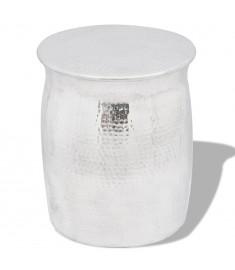 Σκαμπό / Βοηθητικό Τραπέζι Hammered Ασημί από Αλουμίνιο    242324