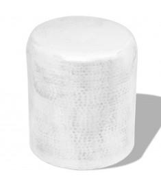 Σκαμπό / Βοηθητικό Τραπέζι Hammered Ασημί από Αλουμίνιο    242326