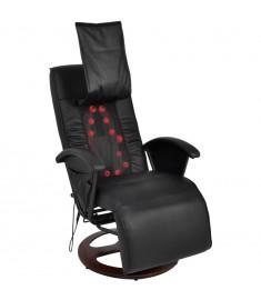 Πολυθρόνα Μασάζ Shiatsu Μαύρη από PU   242508