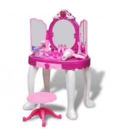 Τουαλέτα Ομορφιάς Παιδική Δαπέδου με 3 Καθρέπτες με Φωτισμό/Ήχο  80115