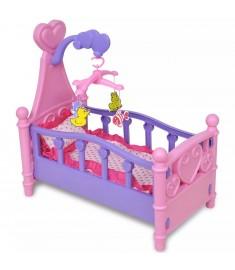 Κούνια για Κούκλες / Παιδικό Παιχνίδι Ροζ + Μοβ  80117
