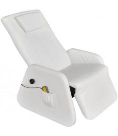 Πολυθρόνα Μασάζ Zero Gravity Ηλεκτρική Λευκή Συνθετικό Δέρμα    242511