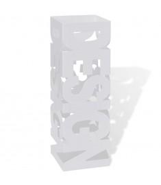 Ομπρελοθήκη / Μπαστουνοθήκη Τετράγωνη Λευκή 48,5 εκ. Ατσάλινη  242467