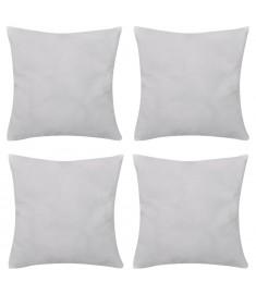 Καλύμματα Μαξιλαριών 4 τεμ. Λευκά 50 x 50 εκ. Βαμβακερά