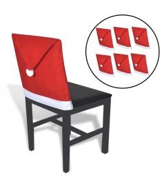 Καλύμματα Πλάτης Καρέκλας Σκούφος Αγίου Βασίλη 6 τεμ.  131012