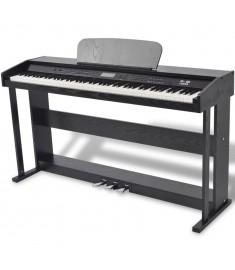 Πιάνο Ψηφιακό 88 Πλήκτρων με Πετάλια Μαύρο από Φύλλο Μελαμίνης  70045