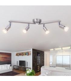 Φωτιστικό Οροφής Ράγα με 4 Σποτ LED Σατέν Νίκελ  50467