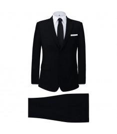 Κοστούμι Ανδρικό Επαγγελματικό Δύο Τεμαχίων Μαύρο Μέγεθος 46   131115