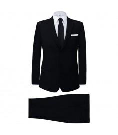 Κοστούμι Ανδρικό Επαγγελματικό Δύο Τεμαχίων Μαύρο Μέγεθος 52   131118