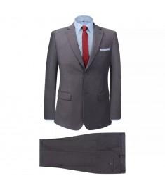 Κοστούμι Ανδρικό Επαγγελματικό Δύο Τεμαχίων Γκρι Μέγεθος 54  131125