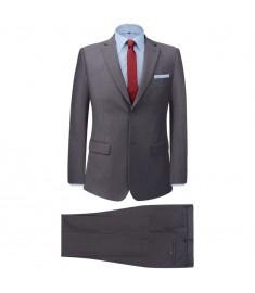 Κοστούμι Ανδρικό Επαγγελματικό Δύο Τεμαχίων Γκρι Μέγεθος 56   131126
