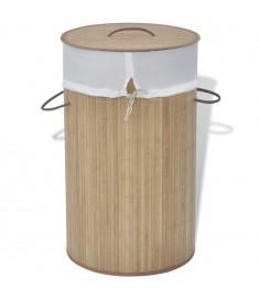 Καλάθι Απλύτων Στρογγυλό Φυσικό Χρώμα από Μπαμπού   242723
