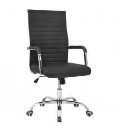 vidalXL Καρέκλα Γραφείου Μαύρη  55 x 63 εκ. από Συνθετικό Δέρμα  20124