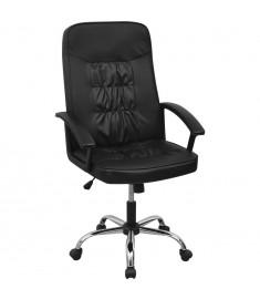 vidalXL Καρέκλα Γραφείου Μαύρη 67 x 70 εκ. από Συνθετικό Δέρμα  20126