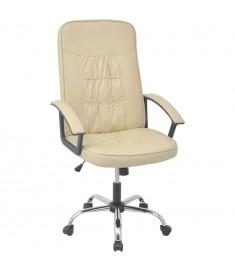 Καρέκλα Γραφείου Κρεμ 67 x 70 εκ. από Συνθετικό Δέρμα  20127