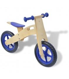 Ποδήλατο Ισορροπίας Μπλε Ξύλινο  80138