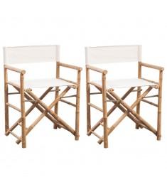 Καρέκλα Σκηνοθέτη 2 τεμ. Πτυσσόμενη από Μπαμπού / Καραβόπανο   41895