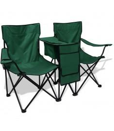 Καρέκλα Camping Διπλή Πράσινη 155 x 47 x 84 εκ.   42025
