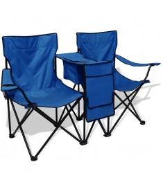 Καρέκλα Camping Διπλή Μπλε 155 x 47 x 84 εκ.   42026
