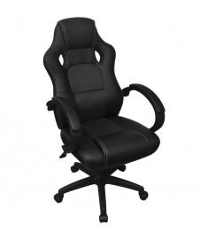 Καρέκλα Γραφείου Executive Racing Μαύρη από Συνθετικό Δέρμα  242895