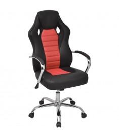 Καρέκλα Γραφείου Executive Racing Κόκκινη από Συνθετικό Δέρμα  242899