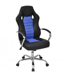 Καρέκλα Γραφείου Executive Racing Μπλε από Συνθετικό Δέρμα  242901