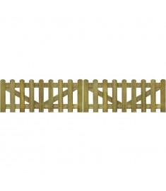 Πόρτα Φράχτη 2 τεμ. 300 x 60 εκ. από Εμποτισμένο Ξύλο FSC   41927
