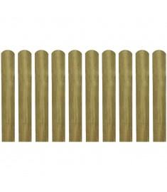Σανίδα Φράχτη 10 τεμ. 60 εκ. Ξύλινη Εμποτισμένη  42009