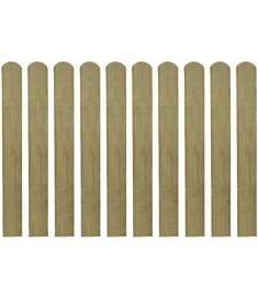 Σανίδα Φράχτη 10 τεμ. 80 εκ. από Εμποτισμένο Ξύλο FSC  42010