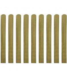 Σανίδα Φράχτη 10 τεμ. 100 εκ. από Εμποτισμένο Ξύλο FSC  42011