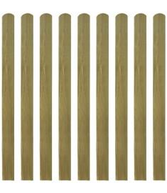 Σανίδα Φράχτη 10 τεμ. 120 εκ. από Εμποτισμένο Ξύλο FSC  42012